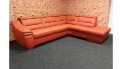 Nová značková oranžová rohová sedačka kůže MEIN SOFA