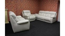 Luxusní značková sedačka bílá kůže 3+2+1 AMBRA