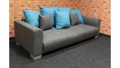 Nové šedotyrkysové big sofa TONJA