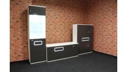 Nová značková obývací stěna TALIA šedobílá