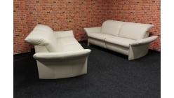 Nová krémová značková kožená relax sedačka 2+2