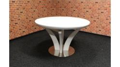 Nový luxusní bílý kulatý jídelní stůl rozkládací