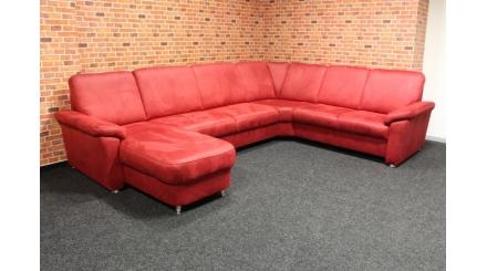 Nová značková rohová červená sedačka účko RITA