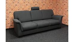 Tmavě šedý gauč látka velký