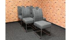 Nová 5x šedá židle s madlem