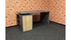 Nový šedohnědý psací stůl BETON
