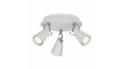 Nové bílé svítidlo SASO 3 kulaté