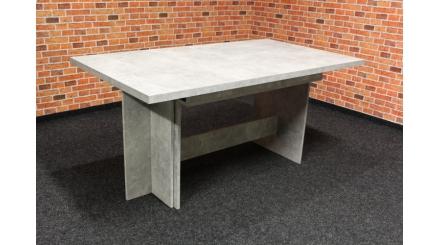 Nový šedý-beton jídelní stůl FABIO rozkládací