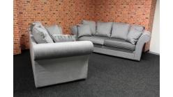 Nová šedostříbrná sedačka SOHO 3+2