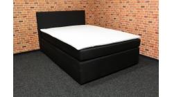 Nová černá boxspring postel DUKE