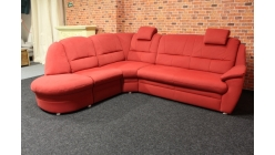 Nová červená rohová sedačka látka