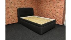 Nová tmavá postel s úložným prostorem BLANAŘ