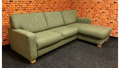 Nová zelená rohová sedačka látka