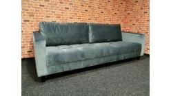 Nový hranatý gauč semiš holubí šeď