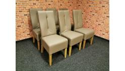 Nová 6x mohutná hnědá židle