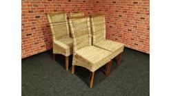 Nová 4x ratan stylová židle značková