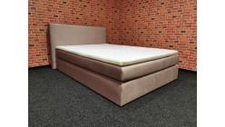 Nová růžová boxspring postel 140