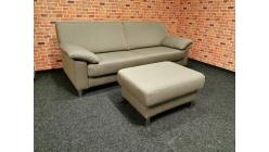 Nový hnědý značkový gauč + taburet E. SCHILLIG