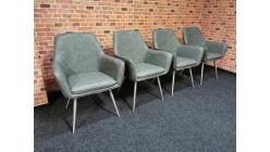 Nové 4x šedé značkové lounge křesílko ILVIE