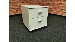 Nový bílý kontajnér-noční stolek na kolečkách