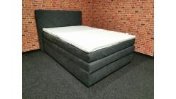 Nová šedá boxspring postel BLANAŘ 140