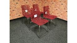 Nová 4x židle GROOVE bordeaux