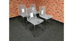 Nová 4x židle GROOVE perla šedá