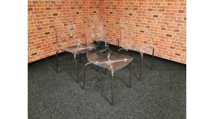 Nová 4x designová židle LOLLIPOP transparentní