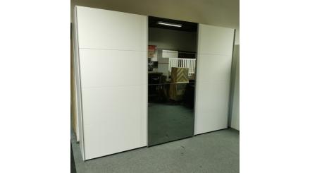 Nová bílá šoupací skříň kouřové zrcadlo
