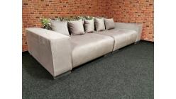 Nové růžové big sofa MAX semiš