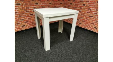 Nový bílý malý jídelní stůl rozkládací