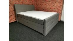 Nová šedá boxspring postel BARON 2x úložný prostor