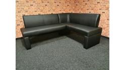 Nová černá rohová lavice kuchyňská