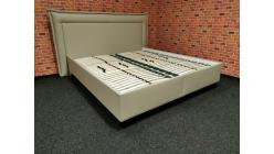 Nová krémová manželská postel s úložnými prostory