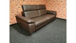 Nový hnědý relax gauč kůže POLINOVA