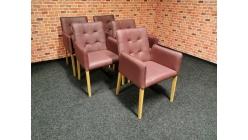 Nové 5x značková židle-křesílko kůže ANTONIA bordeaux