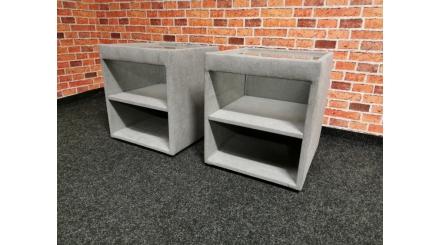 Nový 2x šedý noční stolek látka