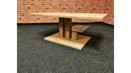 Nový hnědý konferenční stůl CORTINA