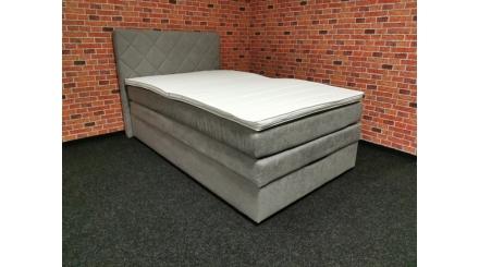 Nová šedobéžová boxspring postel PRINCESS 120