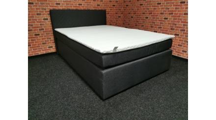 Nová šedá boxspring postel DUKE 140
