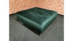 Nový velký zelený taburet semiš