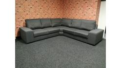 Nová hranatá sedačka RENÉE tmavá šedá