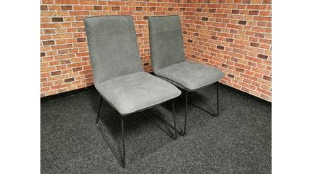 Nová 2x šedá židle černé nohy