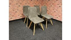 Nová 4x hnědá židle MARVEN dřevo