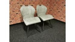 Nová 2x světle šedá židle INGO