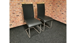 Nová 2x černá židle WOHNWERT MERO