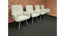 Nová 4x židle - křesílko ILKA krémová