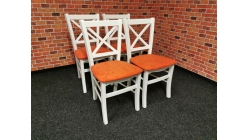 Nová 4x jídelní židle ATENA masiv oranžové
