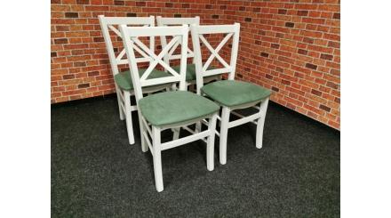 Nová 4x jídelní židle ATENA masiv zelená