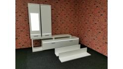 Nová bílá obývací stěna VINZENZA